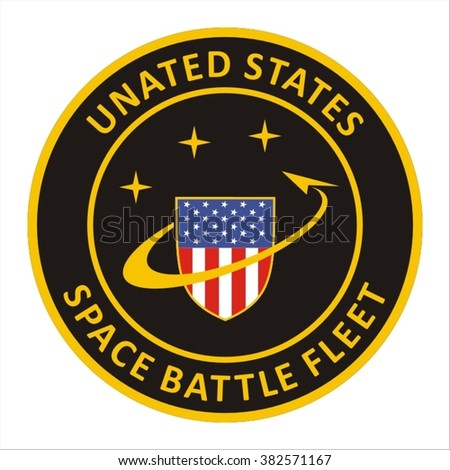 Fantastic military patch - stock vector