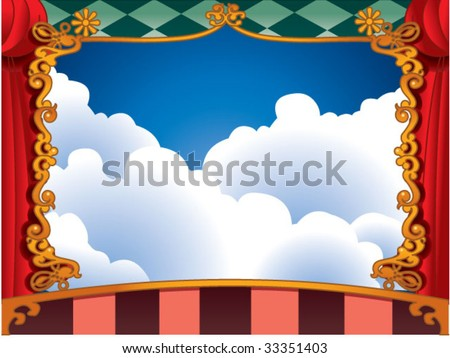 fantastic stage background - stock vector