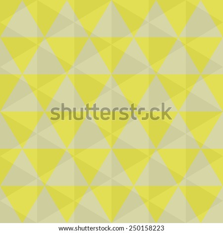 Fantasy geometric seamless pattern with yellow triangles.Colorful modern background.Vector illustration.Classic vivid backdrop. - stock vector