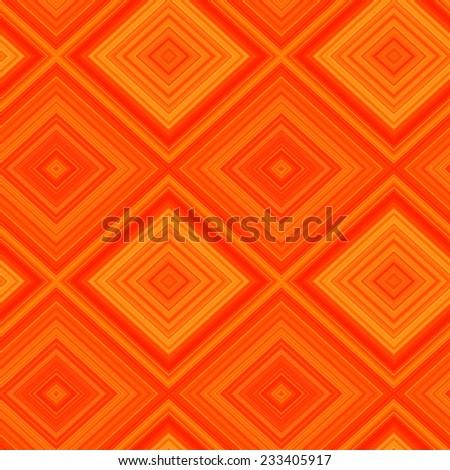 Fantasy orange geometric seamless pattern.Backdrop of rhombuses.  - stock vector