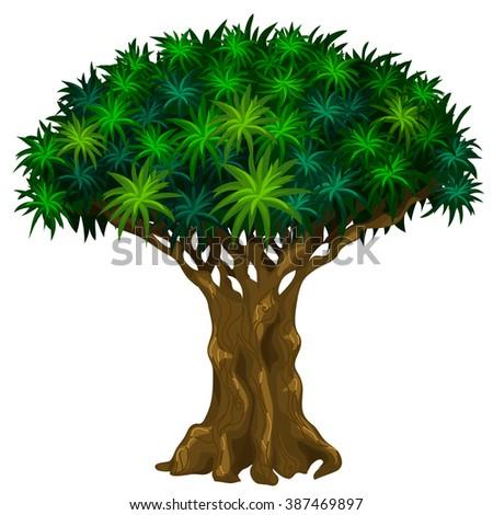 Fantasy tree. Vector illustration. - stock vector