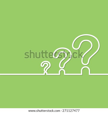 FAQ sign. Question icon. Help symbol. on green background. Vector illustration. - stock vector