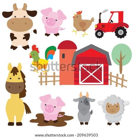 Farm animal vector illustration - stock vector