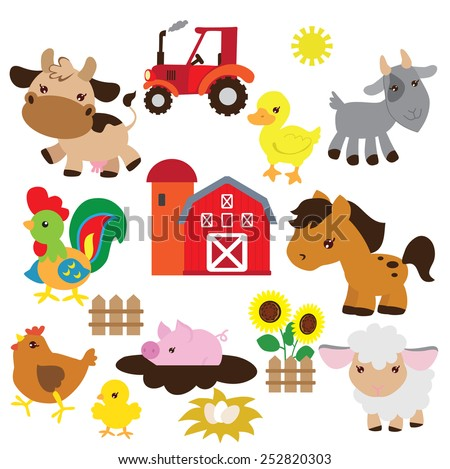 Farm animal vector illustration - stock vector