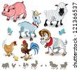 Farm Animals Collection Set 01 - stock vector
