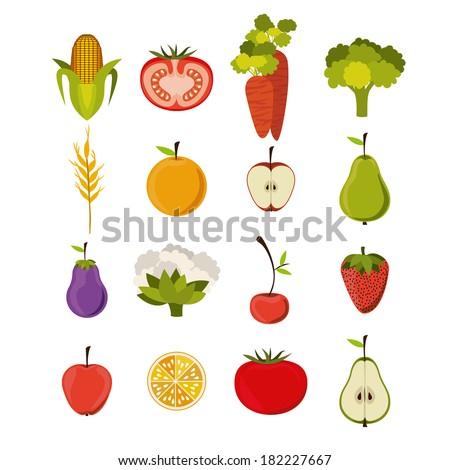 farm design over   white  background vector illustration - stock vector