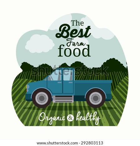 Farm food digital design, vector illustration 10 eps graphic - stock vector