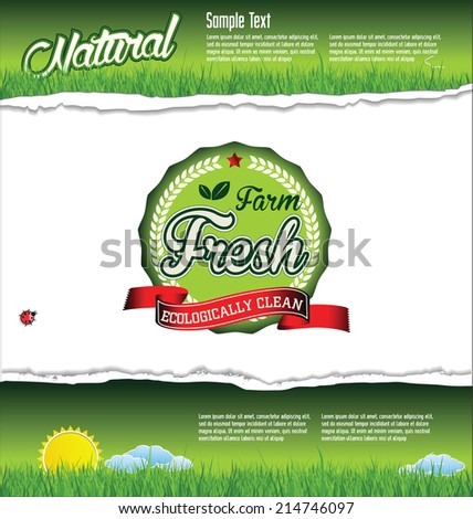 Farm fresh background - stock vector