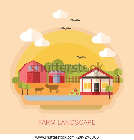 Farmhouse stock photos images pictures shutterstock for Design of farm pond ppt