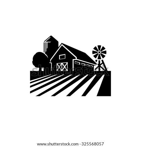 Farm vector  - stock vector