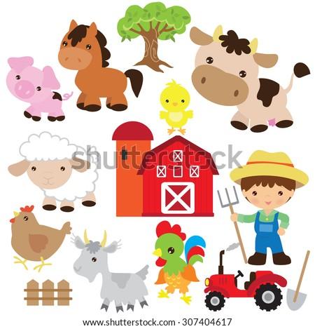 Farm vector illustration - stock vector