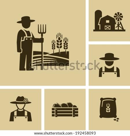 Farmer man  - stock vector