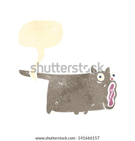 farting cat retro cartoon - stock vector