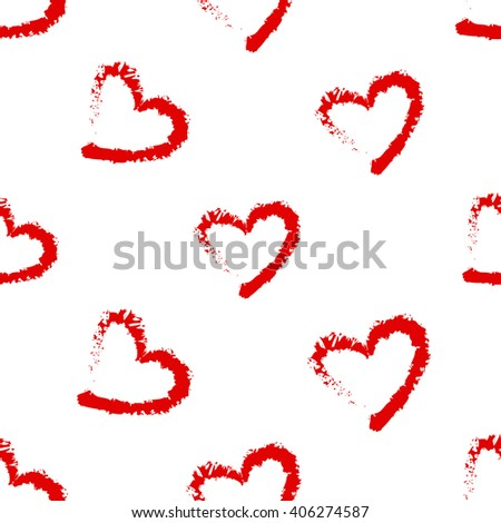Fashion attractive fashion wedding background with red heart. Beautiful hand drawn sketch on white background. Fashion, style, beauty, advertising greeting card, banner, design - stock vector
