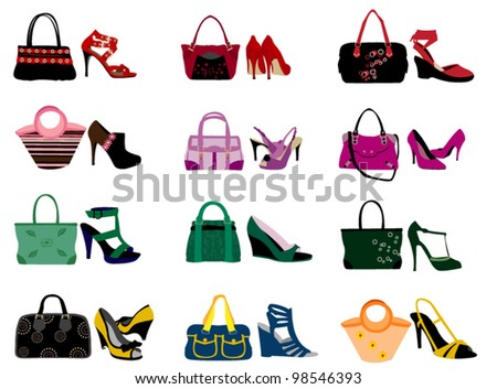 Fashion bags - stock vector
