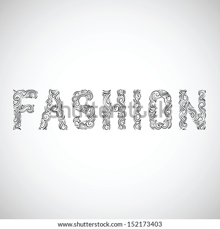 Fashion black-and-white vector illustration - stock vector