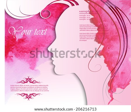 Fashion girl with beautiful hair - stock vector