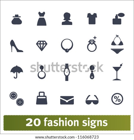 Fashion icons: vector set of female accessories - stock vector