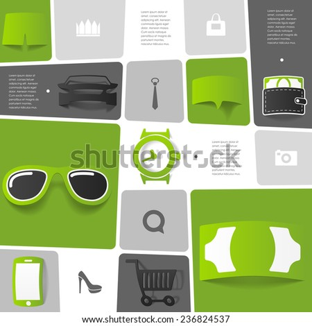 Fashion infographic - stock vector