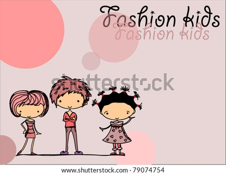 Fashion kids - stock vector