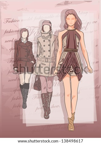 Fashion man on background - stock vector