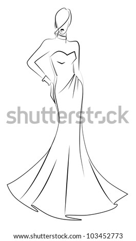 Fashion model vector illustration - stock vector
