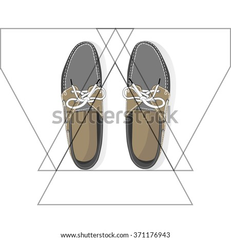 fashion modern flat shoe icons. vector - stock vector