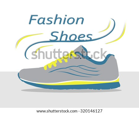 Fashion shoes - sneakers. Vector - stock vector