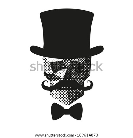 Fashion silhouette skull hipster style, vector illustration - stock vector