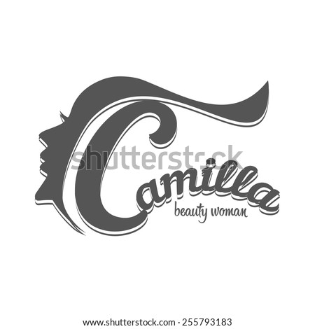 Fashion silhouette woman style, vector illustration. logo template for  Industry, Hair Salon, Beauty Salon, Styling, Spa Boutique, Cosmetic procedures, Cosmetic labeling - stock vector