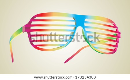 fashion sunglasses - stock vector