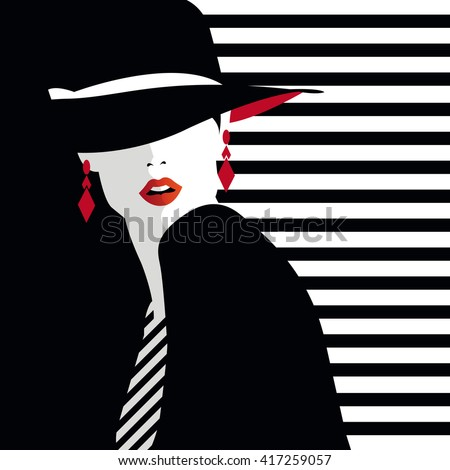 Fashion  teenage girl. Vector illustration - stock vector