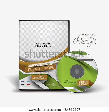 Fashion Traning DVD Case and Disc Vector Design - stock vector
