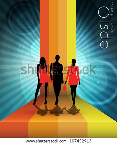 Fashion. Vector illustration - stock vector