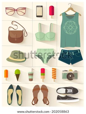 Fashion vector set - stock vector