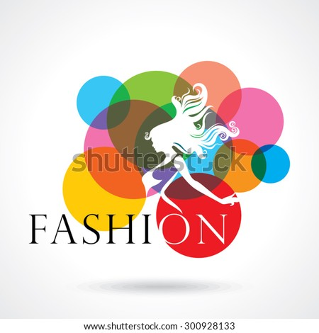 fashion women creative illustration - stock vector