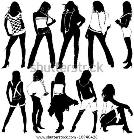 fashion women vector - stock vector