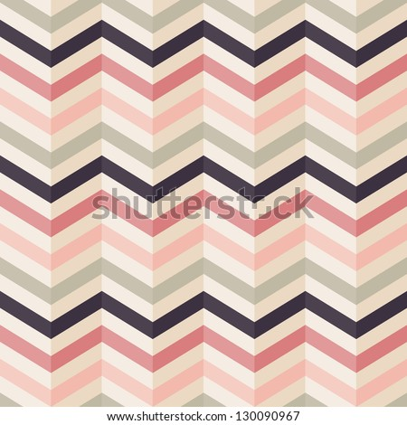 Fashion zigzag pattern in retro colors, seamless vector background - stock vector