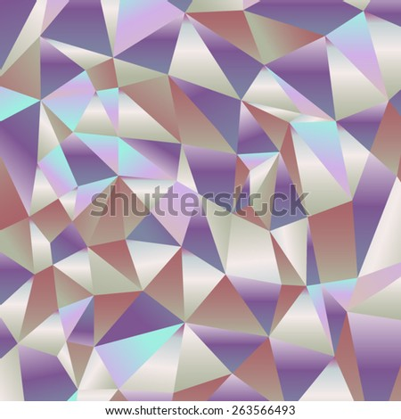 Fashionable retro background of shiny broken glass in the form of triangles. - stock vector