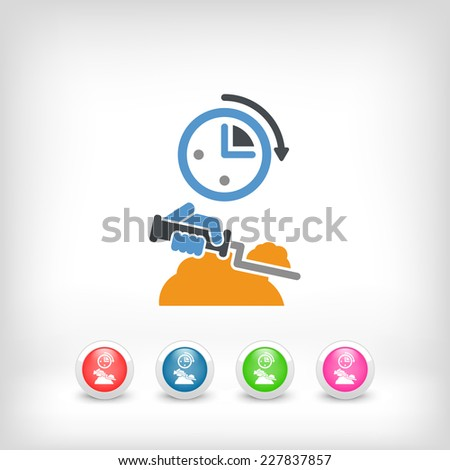 Fast bricklayer - stock vector