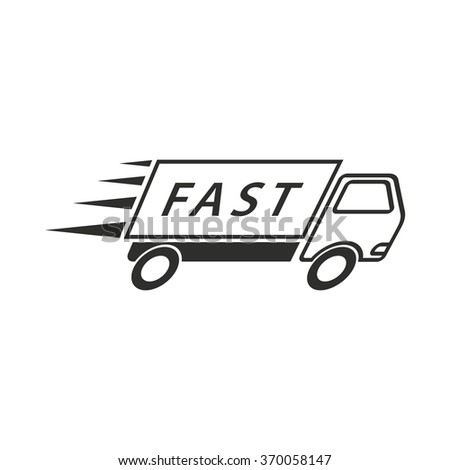 Fast delivery  icon  on white background. Vector illustration. - stock vector