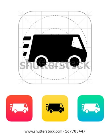 Fast delivery Minibus icon. Vector illustration. - stock vector