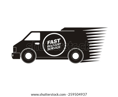 fast delivery service icon  - stock vector