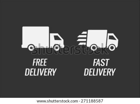 Fast Delivery Straight Truck - stock vector