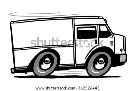 Fast delivery truck. Vector illustration - stock vector