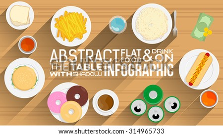 Fast Food And Drink Infographic - stock vector