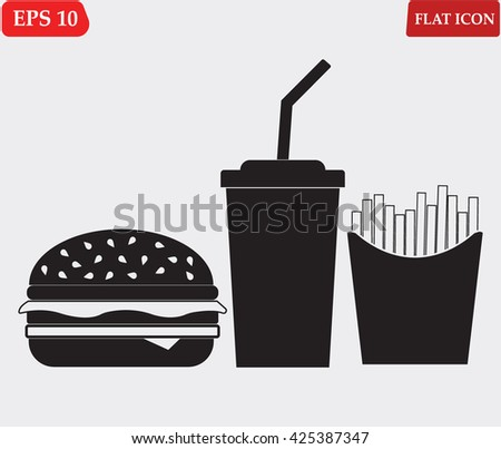 Fast food icon, Fast food icon eps10, Fast food icon vector, Fast food icon eps, Fast food icon jpg, Fast food icon picture, Fast food icon flat, Fast food icon app, Fast food icon web, Fast food icon - stock vector