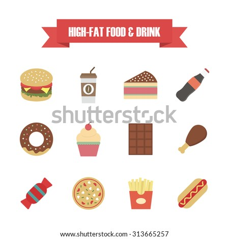 fast food icon, isolated on white background - stock vector