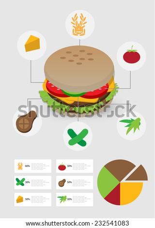 fast food info-graphics. vector - stock vector
