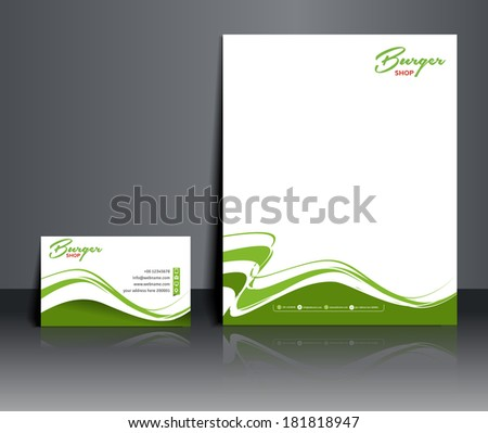 Fast Food Shop Corporate Identity Template - stock vector